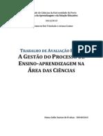 A GESTÃO DO PROCESSO DE ENSINO-APRENDIZAGEM NA ÁREA DAS CIÊNCIAS