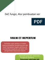 Def, Fungsi, Alur Pembuatan Ver
