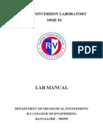 Energy Conversion Lab Manual New