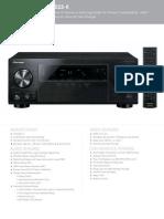 VSX 523 K Single Sheet