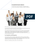 Inicie programa de capacitación para empresas