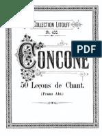 50 Leçons de chant, Op.9 (Concone, Giuseppe)