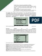 Graficar en La Calculadora Hp50g