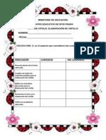 lista de cotejo para la evaluacin cintillo