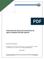 Evaluacion de la planta de tratamiento de aguas residulaes de Logroño