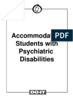 Accommodating Students With Psychiatric Disabilities