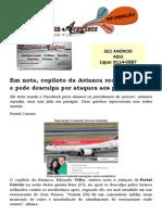 Em Nota, Copiloto Da Avianca Reconhece Erro e Pede Desculpa Por Ataques Aos Paraibanos