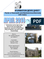 The Parish of Newcastle & Newtownmountkennedy with Calary, Co. Wicklow, Ireland Newsletter April 2014