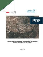 """Estudio de impacto ambiental """"Depuración de San Martín de Valdeiglesias y Pelayos de la Presa""""."""
