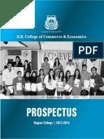 Degree Prospectus 2013 Hr College