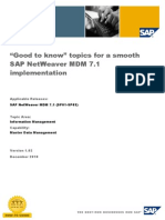 """Good to Know"" Topics for a Smooth SAP NetWeaver MDM 7.1 Implementation"