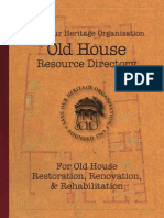 Old House Restoration Resource Manual