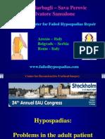 Hypospadia Lecture EAU 17-21 March 2009 Stockholm