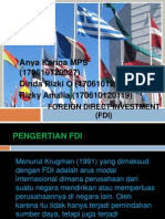 Foreign Direct Investment (Fdi) Fix
