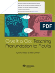 Teaching Pronunciation to Adults
