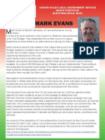 Elect Mark Evans to Unison Local Governement Service Group Executive (SGE)