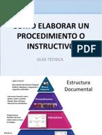 Como Elaborar Un Procedimiento o Instructivo