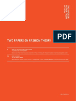 Two Papers on Fashion Theory[1]