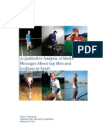 A Qualitative Analysis of Media Messages About Gay Men and Lesbians in Sport