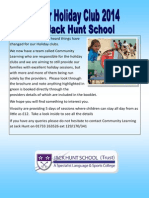 Easter Holiday Club Flyer