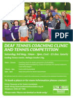 Deaf Tennis Coaching Clinic and Competition