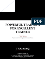 Proposal Powerful Training for Excellent Trainer