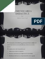 Comunicarea didactică