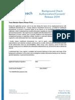 2014 Background Check Authorization