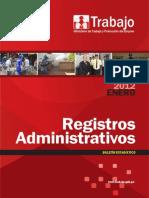 Boletin Registros Administrativos Enero 2012
