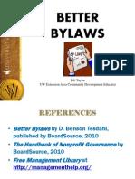 Better Bylaws