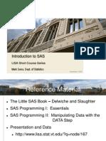 SAS Short Course Presentation 11-4-09