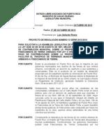 Proyecto de Resolucion Numero 13 Enmienda Fideicomiso