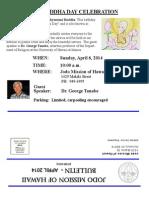 Jodo Mission of Hawaii Bulletin - April 2014