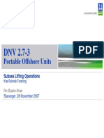 DNV 2.7 3 Portable Offshore Units Overview