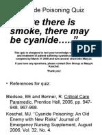 Cyanide Poisoning Quiz
