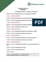 Calendário de aulas - Planejamento Tributário