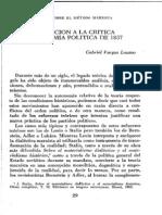VARGAS Lozano, Gabriel. Introducción a la Crítica de la Economía Política de 1857.
