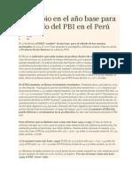 El Cambio en El Ano Base Para El Calculo Del PBI en El Peru