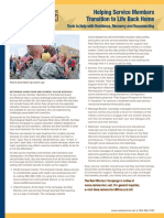 Print Feature - Helping Service Members Transition to Life Back Home Tools to Helpwith Resilience, Recovery and Reconnecting