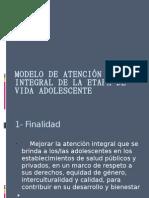 MODELO DE ATENCIÓN INTEGRAL DE LA ETAPA DE