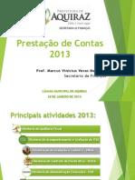 Prestação de Contas SEFIN 2013
