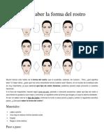 Cómo saber la forma del rostro