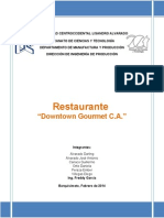 Informe Final Downtown Gourmet