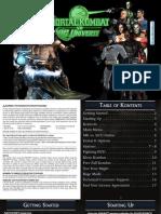 Mortal Kombat vs Dc Universe - Manual - PS3