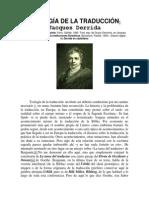 Derrida - Teología de la traducción