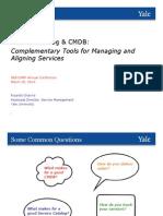 Service Catalog and CMDB