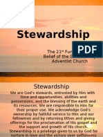 STEWARDSHIP - The 21st Fundamental Belief of the Seventh-day Adventist Church
