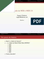 Evolução da Web e Web 2.0