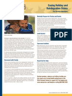 Print Feature - Easing Holiday and Reintegration Stress for Service Members