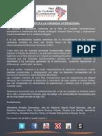 Redcisur Apoya a Gustavo Petro tras destitución y hace un llamado a CIDH